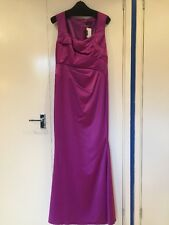 ALEXON CERISE PINK SATIN LONG EVENING OR BRIDESMAIDS DRESS SIZE 10 BNWT