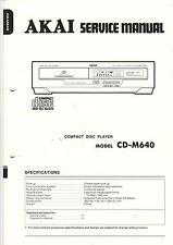 AKAI Service Anleitung Manual CD-M640   B1149
