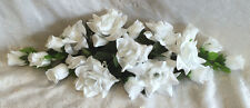 WHITE SWAG ~ Silk Wedding Flowers Roses Arch Gazebo Decor Centerpieces Reception