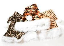 Santa Hats ANIMAL PRINT 3x PACK -  Lion Tiger Cheetah Christmas Holiday Caps NEW