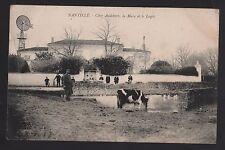 CPA de NANTILLE (17) Charente M. / Chez Audebert, la Mare et le Logis TRES RARE!