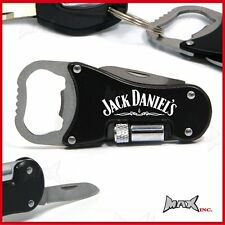 JACK DANIELS Lasered Logo Keyring / Pocket Knife / LED Torch / Bottle Opener