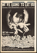 WE'RE GOING TO EAT YOU__Original 1980 Trade Print AD / horror poster__TSUI HARK
