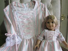 Matching American Girl Colonial Dresses for Girl and Doll - 7/8