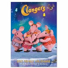 Clangers A3 Family Calendar with Reward Chart Function and Stickers 2017 C16114
