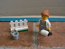Lego City – Woman Fence Painter Minifgiure – Split From 60134 Fun in the Park