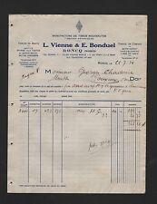 RONCQ, Rechnung 1932, Vienne & Bonduel Tissage de Toiles et Coutils