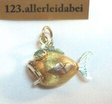 Fisch Bettelarmband Anhänger 585 er Gold Charms Charm / AR 595