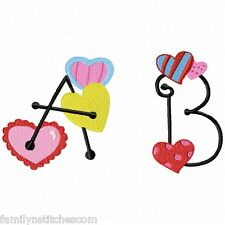 Alphabet Heart Font 30 Machine Embroidery Designs on multi-formatted CD