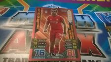 Match Attax 2015/16 Jordan Henderson Limited Edition Bronze 2015 2016 Topps