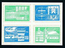 76230)  Luftpost Vignetten-Block 3.Luftpostsalon der DDR SUHL 1975