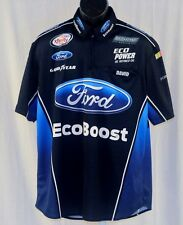 2015 Bubba Wallace Ford Ecoboost Race Used NASCAR Pit Crew Shirt medium
