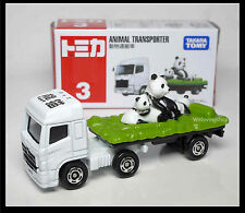 TOMICA #3 PANDA ANIMAL TRANSPORTER VEHICLE (BOX) TOMY 2012 APRIL MODEL