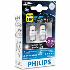 Philips XTREME VISIÓN 360 LED W5W T10 510 6000K Xenon Blanco Bombillas (twin)