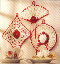 OLD-FASHIONED Potholders & Dainty Dishcloth/Crochet Pattern INSTRUCTIONS ONLY