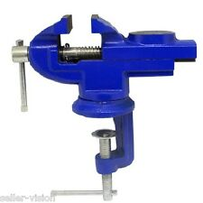 60mm Revolving Mini Vice Model Clamp Steel Bench Vice Table Top Workbench Desk