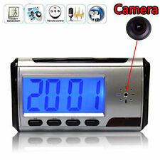 SECRET DETECTIVE SPY CAM CLOCK HIDDEN VIDEO CAMERA DVR CCTV MOTION DETECTOR
