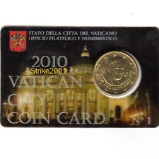 Euro VATICANO 2010 COIN CARD 50 CENT in Folder Ufficiale