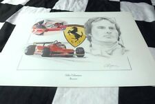 GILLES VILLENEUVE THE KING OF FORMULA ONE FERRARI POSTER PICTURE PAINTING
