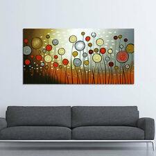 Framed Huge Hand Paint Canvas Oil Painting Abstract Flower Wall Art Home Decor