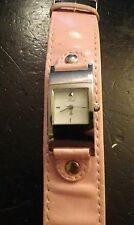Vintage Rush ladies watch, pink leather band running with new battery NR