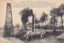 DREUX environs route de PARIS à BREST la pyramide berger troupeau de mouton