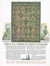 1920's BIG Old Vintage A M Karagheusian Rug Co. Persian Rugs Art Print Ad
