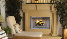 Astria's Tuscan White Herringbone Refractory Panels Wood-Burning Fireplace 36""