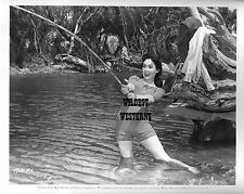 SUSAN CABOT Vintage Original PHOTO Sexy Legs FISHING CANDID Busty RARE Camel Toe