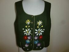 Vintage Germany Pure Wool Vest Perry Trachtenmoden sz 44 US 14
