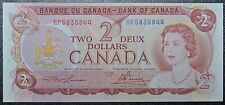 BANK OF CANADA - 1974 $2 BANK NOTE - Crooked Cut ERROR Prefix RP -Lawson & Bouey