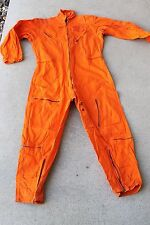 vintage AVIREX type S-36 flying suit orange COVERALL pilot flying JUMPSUIT USA