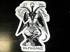 BAPHOMET GOAT  SHAPED  BLACK  AND WHITE  EMBROIDERED BACK PATCH