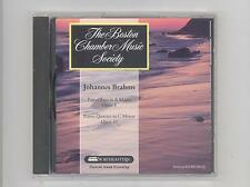(CD) Brahms: Piano Trio, Op. 8 / Piano Qt, Op. 60 / Boston Chamber Music Society