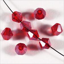 30 Perles Checas Tupis de Cristal 6mm Rojo