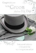 Congratulations To The Groom On Your Big Day Modern Top Hat Design Wedding Card