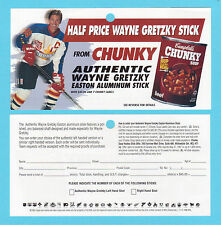 Wayne Gretzky 1997 Campbells Soup Hockey Ad Coupon Brochure Contest Entry Form