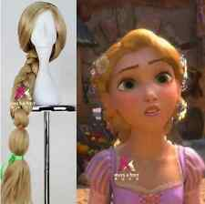 Disney Movie Tangled Princess Rapunzel Wig Long Cosplay Wig + free wig cap