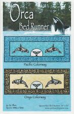 Orca Quilt Bed Runner Pattern by Quilts With A Twist,  DIY Quilting Sewing