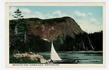 Breakfast Head—Humber River NEWFOUNDLAND Antique Sail Boat Sailing 1910s