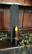 Primitive Colonial Country Textured Black Metal Candle Sconce ~ Irvin's Tinware