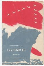 1943 Pamphlet from the Launching of the USS Alazon Bay Vancouver WA