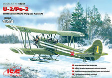 ICM 1/48 Model Kit 48251 Polikarpov U-2/Po-2 WWII Soviet Multi-Purpose Aircraft
