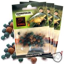 40 Stück RED-CARP Rubber Beads Gummiperlen, 3 Farben, 3 Größen sortiert