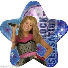 HANNAH MONTANA LARGE Star PAPER PLATES (8) ~ Birthday Party Supplies Dinner