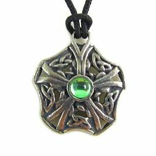 Ciar Knot Celtic Mystries Pewter Pendant on Corded Necklace  #HC-CM03