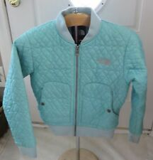 North Face Youth Quilted Winter Jacket Size M Aqua Color
