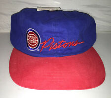 Vtg Detroit Pistons Strapback dad hat cap rare NBA 90s isiah thomas bad boys