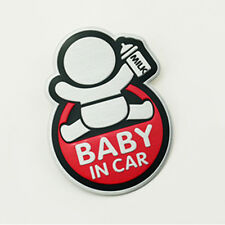 "Prompt Sticker Red ""BABY IN CAR"" Aluminum Alloy Auto Car Sticker Badge Decor"