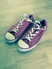 Converse Chuck Taylor Double Tongue OX Raspberry Girl's Trainers UK 3.5